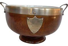 English Wood Trophy Bowl, 1911 on OneKingsLane.com