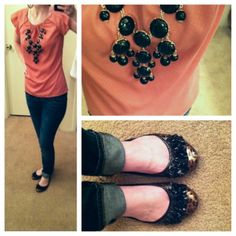 Pink and black with a pop of leapord <3
