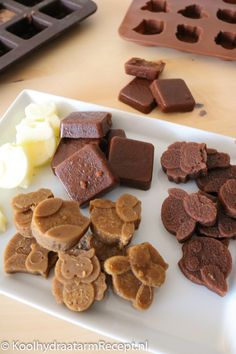 Koolhydraatarme roomborstplaat, suikervrij | Koolhydraatarm Recept .nl Stevia, Low Carb Recipes, Keto, Sweets, Cookies, Dutch, Desserts, Spiritual, Snacks