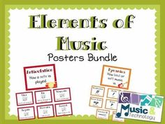 Elements of Music- Posters Bundle- This contains 10 different types of elements of music posters; Articulation, dynamics, melodic contour, sound opposites, rhythm, tempo, timbre, form, mood, and music staff. #teacherspayteachers #musiceducation #classroomdecorations #bulletinboards