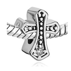 Amazon.com: Pugster Celtic Cross Swarovski Crystal Beads Fit Pandora Charm Bracelet: Pugster: Jewelry