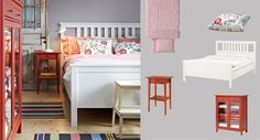 Love the HEMNES line. --- Create a charming cottage with colorful HEMNES furniture