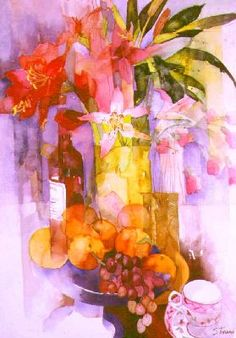 Shirley Trevena, British Watercolourist  Google Image Result for http://www.yellowhouseart.com/photos/images/StillLifewithGrapesOranges.jpg