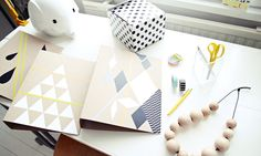 DIY - Kraft Folder Decorating with Contact Paper + Washi Tape