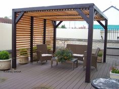 The wooden pergola is a good solution to add beauty to your garden. If you are not ready to spend thousands of dollars for building a cozy pergola then you may devise new strategies of trying out something different so that you can re Garden Design, Diy Outdoor, Outdoor Space, Outdoor Living, Modern, Pergola Plans, House And Home Magazine