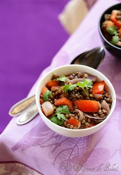 Salade marocaine de lentilles