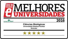 Ciências Biológicas em Botucatu recebe nota máxima na avaliação do Guia do Estudante -   Anualmente, o Guia do Estudante, da Editora Abril, promove uma avaliaçãodos cursos de graduação de universidades brasileiras. O Instituto de Biociências (lB) da Unesp, câmpus de Botucatu, continua se destacando no ranking.  Na edição de 2016, os cursos de Ciências Biológicas, Ciências  - http://acontecebotucatu.com.br/geral/ciencias-biologicas-em-botucatu-receb