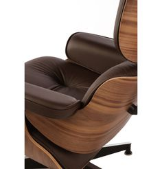 Replica Eames Premium Lounge Chair and Ottoman by Charles and Ray Eames - Matt Blatt
