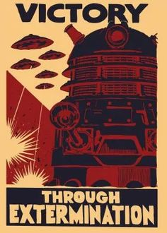 steel poster Movies & TV dr who dalek ww2 vintage poster movie tv oldie science fiction