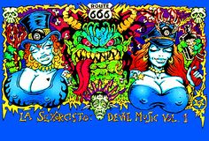 white zombie, la sexorcisto album cover art. I always thought this would be an awesome tattoo.-BirdY