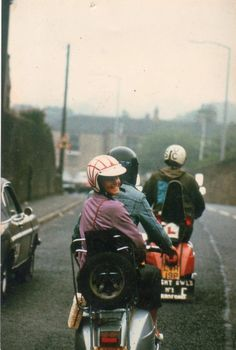 1970s scooter boys and girl