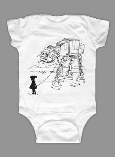 My Star Wars AT-AT Pet - Baby Onesie Bodysuit ( Star Wars baby onesie ). $15.00, via Etsy.