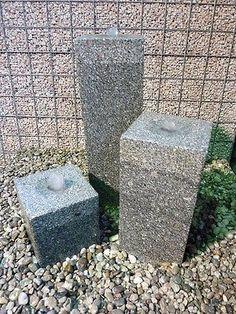Granit Säule Wasserspiel Luxor 80/20/20 cm Springbrunnen ...