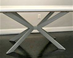 """Moderna Base de la mesa """"X"""", prefabricados, modelo #003A, níquel del satén acabado"""