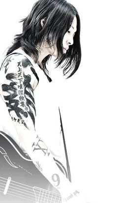Miyavi has got one of the best tattoo collections ever.