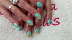 Mint&yellow pastel# mermaid effect