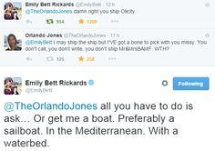 Emily Bett Rickards & Orlando Jones #Olicity