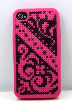 iPhone silicone cross-stitch case kit from Coats & Clark