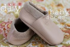 DIY soft leather baby shoes