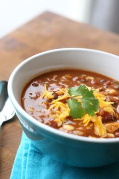 Southwest Chicken and Barley Soup