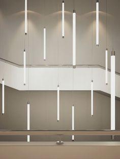 Suspended Light Fixture / LED / Linear TUBE DOWN Buck D.o.o. Design