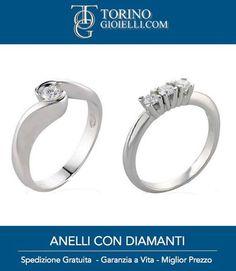 Anelli di Fidanzamento ai migliori prezzi, acquista online su Toringoioielli il tuo anello di fidanzamento in oro bianco e diamanti. http://www.torinogioielli.com/vendita-gioielli-online/anelli-di-fidanzamento