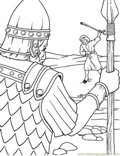 david and goliath coloring pages   Coloring Pages 001 David And Goliath 6 (Other  Religions) - free ...