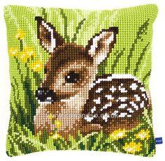 Little Deer Cushion Front Chunky Cross Stitch Kit