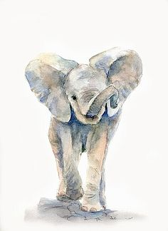The David Sheldrick Wildlife Trust - Art Store Colorful Drawings, Cute Drawings, Animal Drawings, Cute Paintings, Animal Paintings, Elephant Paintings, Elephant Artwork, Indian Paintings, Painting & Drawing