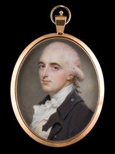 A Gentleman, wearing coat and cravat - John Smart (1742-1811)