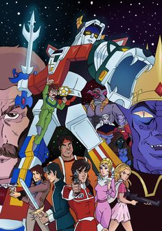 Voltron   The Five Lion Team  Great cartoon from the 80s    80 s     More information
