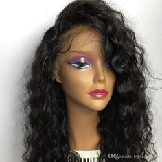 Density Glueless Full Lace Human Hair Curly Wigs For Black Women Glueless… Protective Hairstyles, Wig Hairstyles, Straight Hairstyles, Stylish Hairstyles, Curly Lace Front Wigs, Human Hair Lace Wigs, Real Wigs, Layered Haircuts With Bangs, Curly Haircuts