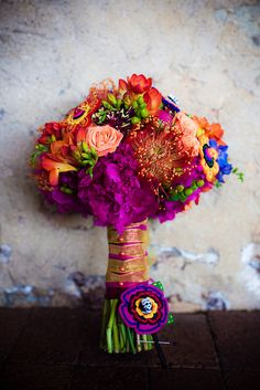 Love all of the colors! So vibrant!  (again, except the pinks/purples)  also love the mixture of textures in the flowers