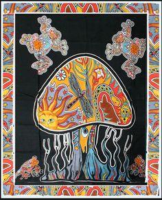 Psychedelic Mushroom - Tapestry www.trippystore.com/psychedelic_mushroom_tapestry.html