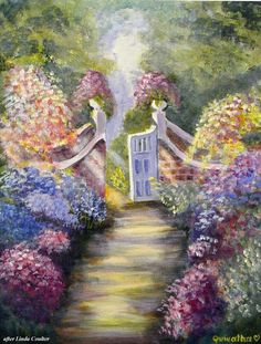 Through the Garden Gate Fine Art Print