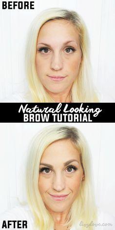 Natural Looking Brow Tutorial