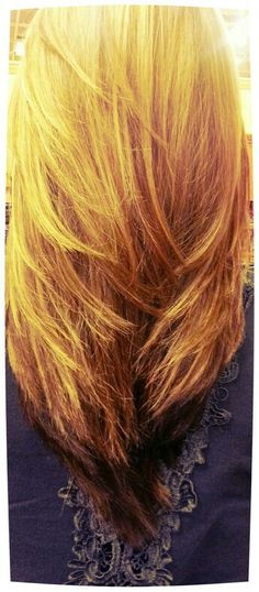 My beautiful hair...compliments of robin....the V cut with long layers