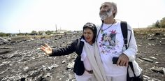 The daughter of this couple died in the MH 17 crash. They are the first family members of the victims to dare step in the MH 17 crash site. They traveled incognito via the help of local Ukrainians living in the rebel controlled area. They are Jerzy Dyczynsk and his wife Angela.