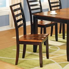 Abaco Ladder Back Side Chair - Set of 2 - http://www.furniturendecor.com/abaco-ladder-back-side-chair-set-of-2/ - Categories:Dining Chairs, Dining Room Furniture, Furniture, Home and Kitchen