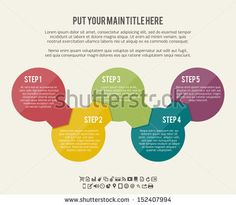 Vector illustration of circle flow chart banner background. - stock vector