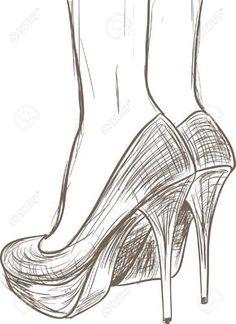 dibujo zapatos con arte - Buscar con Google