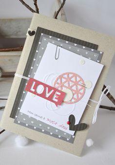 Carnet scrappé pour la Saint Valentin /// réalisation de Mary de l'équipe créative de Kesi'art.