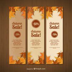 Outono modelos de vendas da bandeira Vetor grátis