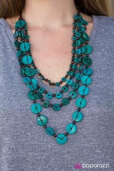 Turquoise Jewelry Fiji Flair - Paparazzi Necklaces - Paparazzi Jewelry - Paparazzi Accessories - Click the picture to shop NOW! Aquamarine Jewelry, Turquoise Jewelry, Boho Jewelry, Beaded Jewelry, Unique Jewelry, Vintage Jewelry, Handmade Jewelry, Jewelry Design, Silver Jewelry