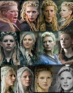 Vikings Tv Series, Vikings Tv Show, Ragnar Lothbrok, Lagertha Hair, Bike Wedding, King Ragnar, Viking Series, Katheryn Winnick, Shield Maiden