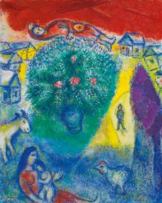 Marc Chagall, Composition, 1980