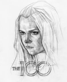 Clarke The100 Clarke The 100, Lexa E Clarke, Lexa The 100, The 100 Clexa, The 100 Show, The 100 Cast, Griffin Drawing, The 100 Poster, Pencil Drawings