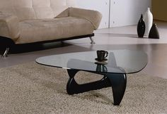"""Modrest J059 Contemporary Black Coffee Table w/ Glass. Modern glass coffee table in red color. Isamu Dimensions: 36""""x50""""xH16"""" Color: Other Finish:   -"""