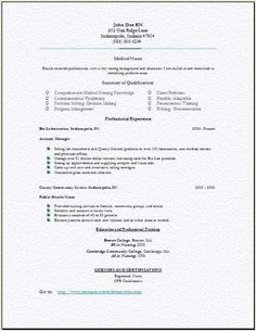 Graduate Nurse Resume New Registered Nurse Resume Sample  Sample Of New Grad Nursing