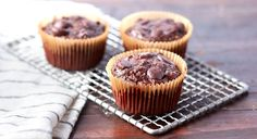 Flourless Chocolate Zucchini Muffins Recipe